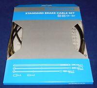 Y80098022 Shimano Standard Road or Mtb Bike Brake Cable Set Black