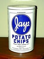 Vtg 1986 JAYS POTATO CHIPS Limited Edition, 16 oz Mfg'd in Chicago, IL, EUC