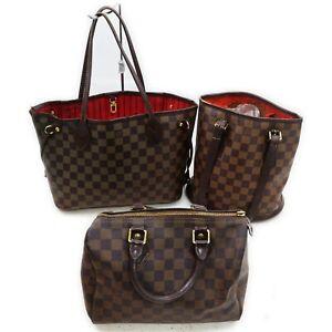 Louis Vuitton Damier Shoulder/Hand Bag 3pc set Nerverfull PM Speedy 25 520917