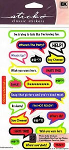 BUBBLE CAPTIONS Sticko Stickers Perfect for Photo's & Photograph albums