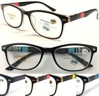 R879 Stylish Classic Plastic Reading Glasses/Spring Hinges Designed Retro Specs