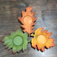 Partylite Whispering Leaves Tealight Trio Candle Holders