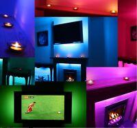LED TUBE MOOD LIGHTING IDEAS TV BACK LIGHTS COLOUR CHANGING HOME BACKLIGHTS