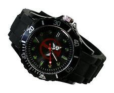 Marvel Super Hero Deadpool Boy Man Metal Black Silicone Watch Wrist