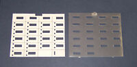 Lot of 6 Avaya Lucent Partner Euro 18D Paper Desi and Plastic Cover Overlay