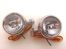 *Ford 32 1932 Cowl Lamp Set - Polished Stainless Steel With Turn Signal -12 Volt