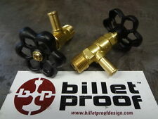 """Brass Faucet Petcock Elbow Needle Gas Valve 3/8"""" NPT Chopper Bobber Cafe Racer"""