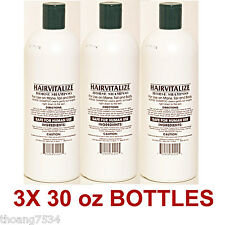3 Bottles 32 OZ HAIRVITALIZE Horse Shampoo with Coconut Oil & Horsetail Extract