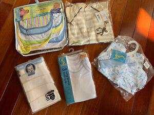 NEW Preemie Baby Clothes and Bibs Lot Of 5 All NEW in Package