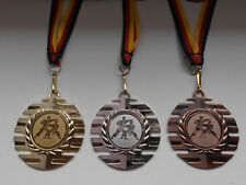 Pokale & Preise Karate Taekwondo Pokal Kids 10 x Medaillen mit Band&Emblem Turnier Pokale e277