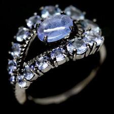 NATURAL BLUE TANZANITE STERLING 925 SILVER RING SZ 6