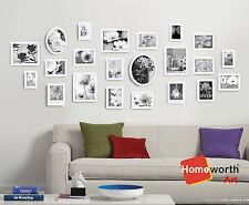 22 pcs photo picture frame wall art collection decor  frames gift present white