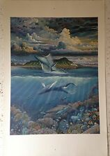 "ROBERT LYN NELSON ""MYSTERIOUS AND ELOQUENT GIANTS OFF DIAMOND HEAD"" Large Print."