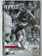 Liverpool v Bordeaux 31/10/2006 Uefa Champions League Group Stage Matchday 4