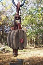 Antique Pulley, Hoist, Tool, Steampunk
