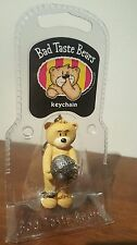 "BAD TASTE BEARS KEYCHAIN ""SHACKLETON"" BALL & CHAIN SPENCER GIFTS VINTAGE MIP NEW"