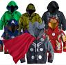 Kids Boy Superhero Hooded Coat Jacket Hoodies Sweatshirts Tops Costume Outerwear