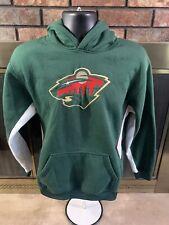 Vintage Minnesota Wild NHL Hockey Hoodie Hooded Sweatshirt Jersey Youth Size XL