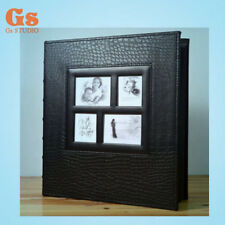 High-grade PU 6 inch 400 Pockets photo album for family (black)