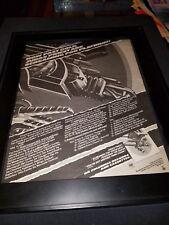 Judas Priest Screaming For Vengeance Rare Original Promo Poster Ad Framed!