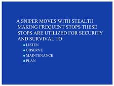 32 page SNIPER INDIVIDUAL MOVEMENT Sharpshooter PowerPointPresentation on CD