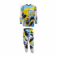 PULSE STORM BLUE & YELLOW MOTOCROSS MX ENDURO BMX MTB KIT + FREE SOCKS