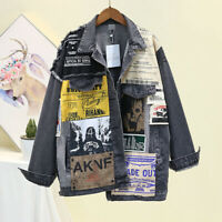 Women's Boyfriend Jacket Asymmetric Loose Patch Heavy Industry Stitching Denim