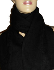 LUXE OH `DOR® Schal scarf 100% Cashmere Todd schwarz Zopfmuster cable stitch