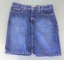 Tommy Hilfiger Women's Size 5 A-Line Back Slit Blue Jean Denim Mini Skirt