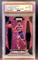 2017-18 Panini Prizm Fast Break Pink Prizm De'Aaron Fox RC Rookie /50 PSA 10 GEM