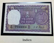 India 1 Rupee 1966 P77 Crisp UNC Note