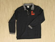 "Lacoste Long-Sleeve Black Rugby Men's Size 4 (M) Big ""L"" Logo Casual Shirt"