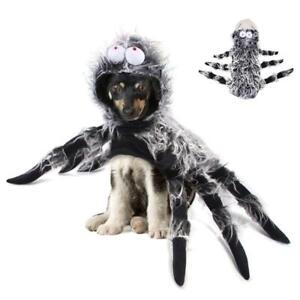Funny Halloween Pet Spider Clothes Puppy Party Cosplay Costume Hoodies Outfit
