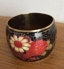 Chunky Retro Floral Oriental Lk Bangle/Boho Look/Bracelet/Vintage Lk/Black