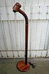 GB Solbacken Svarveri Scandinavian Wooden Flexible Floor Lamp 134cm (Hospiscare)