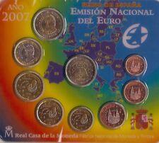 manueduc  BLISTER ESPAÑA  2007 FNMT 9 Coins con 2 EUROS  Tratado de Roma