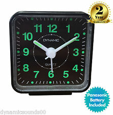Dynamic Travel Quartz Analogue Beep Alarm Clock (Black) - Genuine Brand New