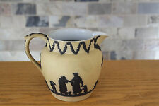 Rare Vintage Wedgwood Yellow Jasper Ware with Black Relief (c.1930)