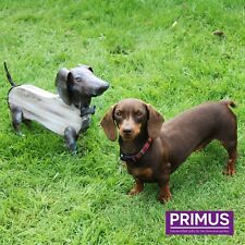 Primus Hand Crafted Metal & Wood Rustic Dog Garden Animal Ornament Sculpture