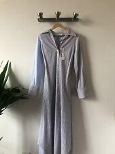 Marni Fine Stripe Duster Dress Nougat/illusion Blue