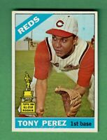 1966 TOPPS #72 TONY PEREZ CINCINNATI REDS HALL OF FAME EX+ CENTERED