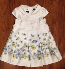 Janie and Jack Spring White Collard Floral Dress Size 3-6 Months NWT