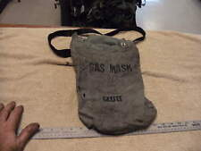 1960s/70s era Police Issue SCOTT Gas Mask Carry Bag, Bag in Soiled ,Torn Used