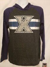 Men's M Xavier Musketeers/Blue Blob Free Style Hooded Slub Tee Shirt NWT