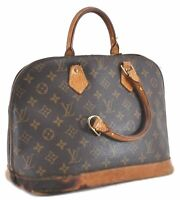 Authentic Louis Vuitton Monogram Alma Hand Bag M51130 Junk LV C3375