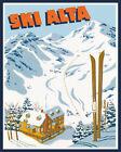 Skis Ski Skiing Alta Wasatch Mountains of Utah USA Vintage Poster Repro FREE S/H