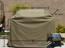 "Premium Tight Weave Heavy Gauge BBQ Grill Cover up to 36"" Long"