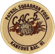 USN PATROL SQUADRON FOUR (VP-4) PATCH - COMBAT AIR CREW 5 - DESERT