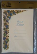 16 Vintage Dinner Party Invitations Grape Clusters
