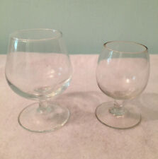 Lot of 2 Vtg. Different Champagne Wine Cordial Port Apertif Dessert Glasses